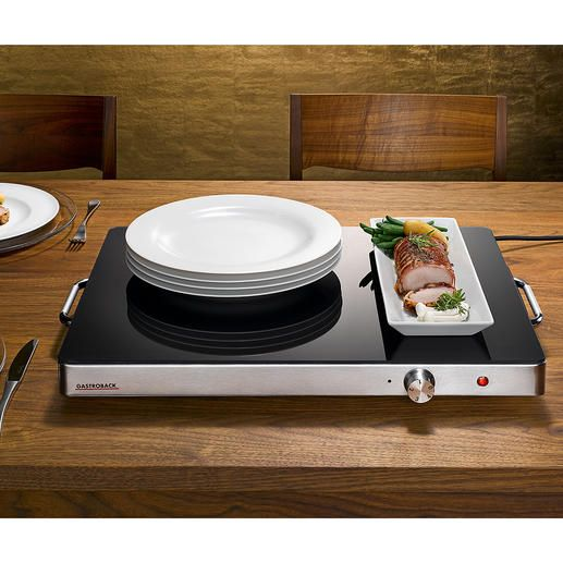 Plaque chauffante professionnelle Gastroback XXL - Servir avec style : avec cette plaque chauffante élégante au format gastronomie.