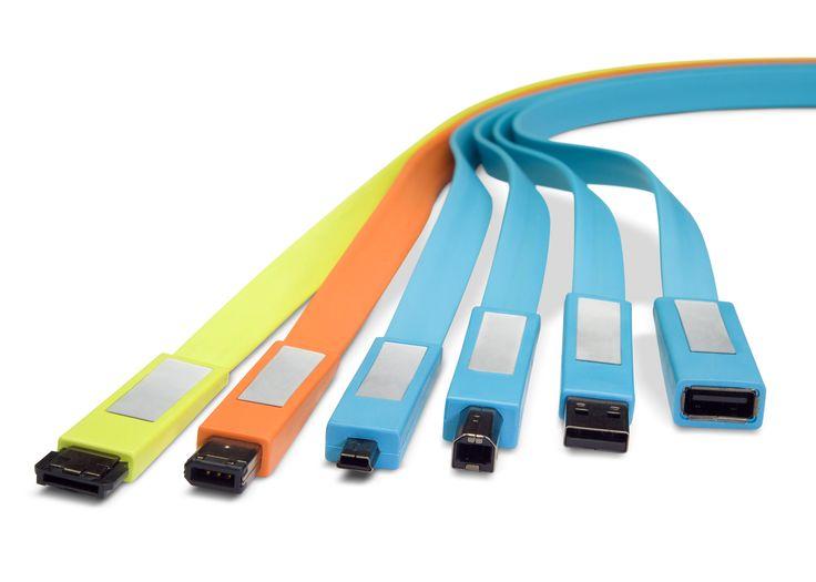 Flat cables / Lacie / 2009 / Cédric Ragot Reddot Design Award 2009