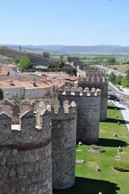 Murallas. Ávila, Spain Interesting to find a housing development inside castle walls.