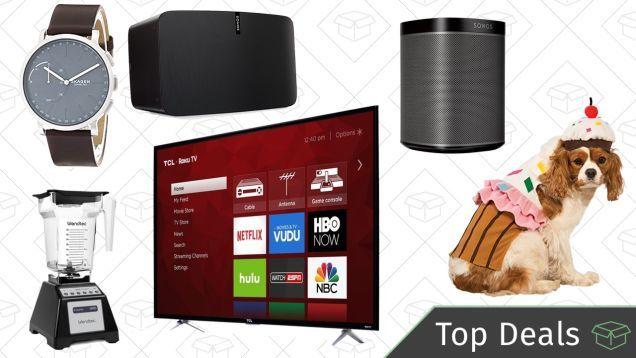 Mondays Top Deals: 4K TV Sonos Speakers Halloween Costumes and More