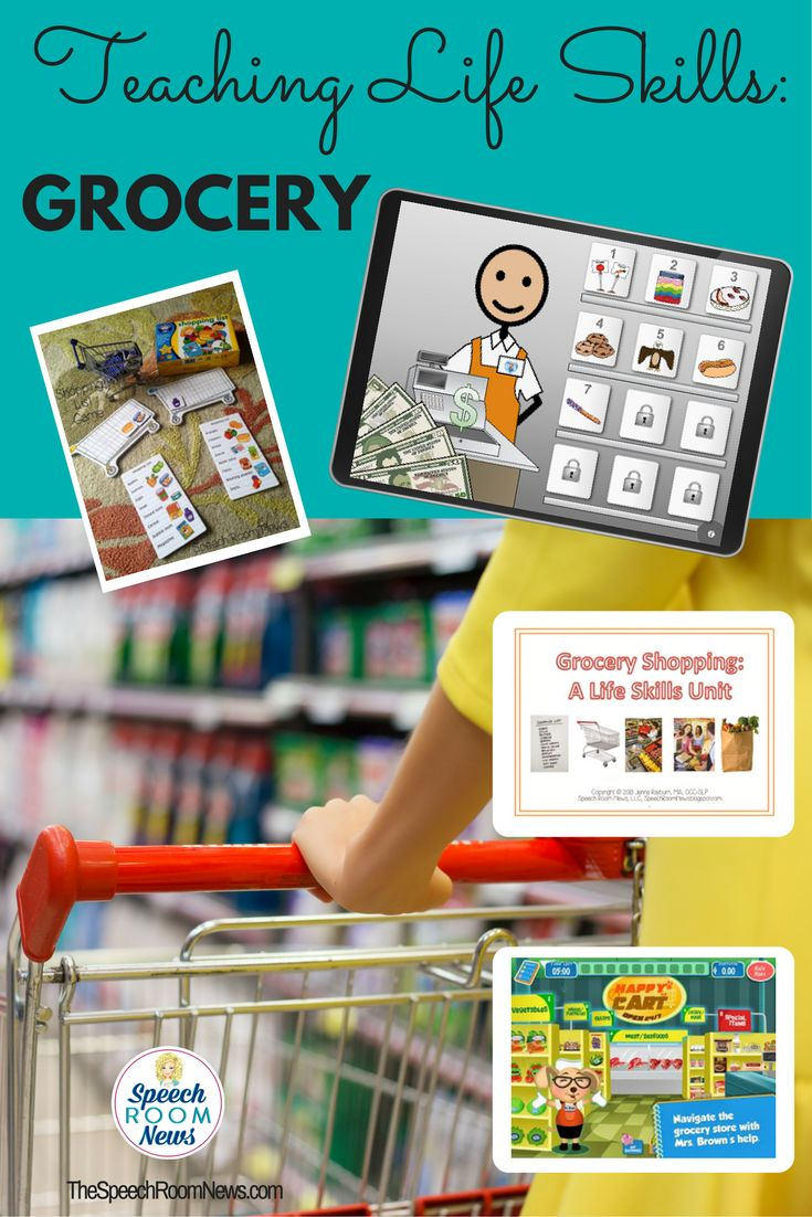 Grocery Shopping: Life Skills Unit - Speech Room News TpT Download, Computer Games, Apps, and traditional games.