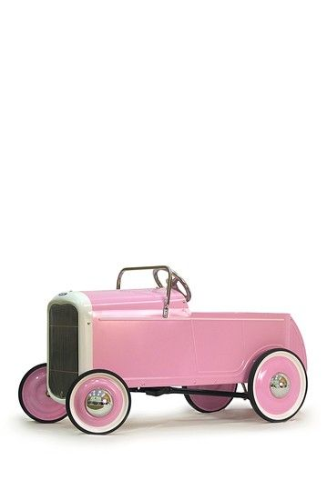 This is soooo cool!!! would be a great prop for a summer shoot outdoors                                                                      1932 Ford Pink Roadster Pedal Car: On sale $175