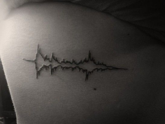 10 Beautiful sound wave tattoos ideas