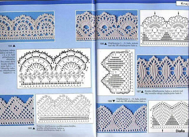 Puntillas ganchillo | CROCHET EDGING & BORDES | Pinterest