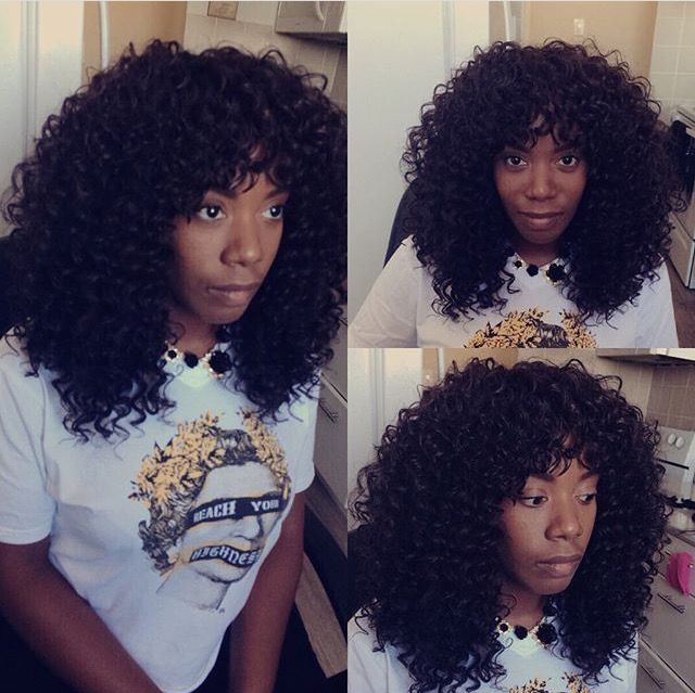 Presto Curl Crochet Braids W Bangs With Images Crochet