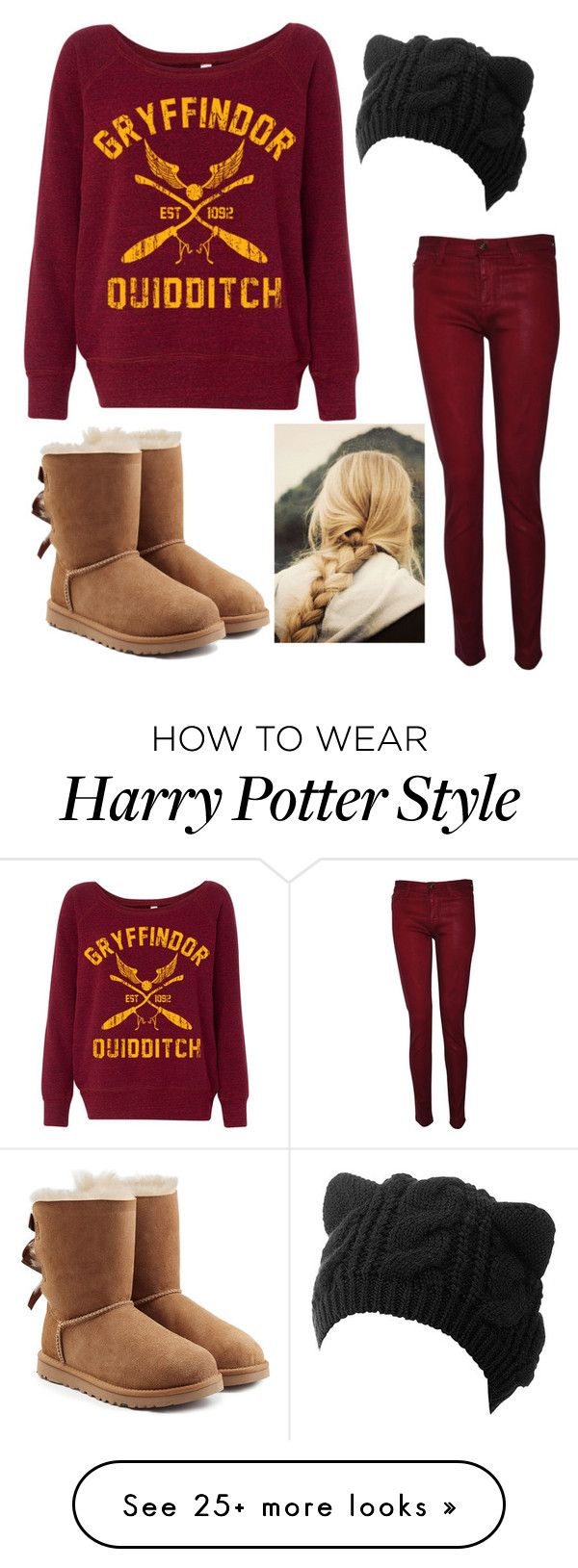 """""""Gryffindor"""" by stellar-of-the-sky on Polyvore featuring Hudson and UGG"""