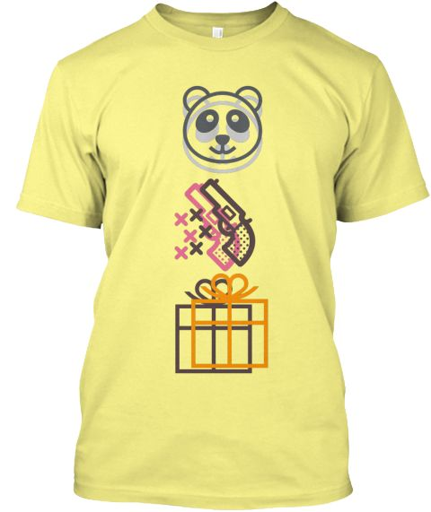 "Fun Girls Emoji | TeeSpring.com  ""A panda next to a gun next to a wrapped gift? It makes no sense""A fun tee for fans of the HBO series Girls."