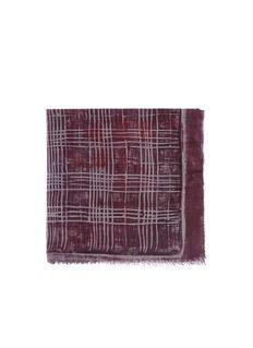 FRANCO FERRARIPlaid cashmere-silk scarf