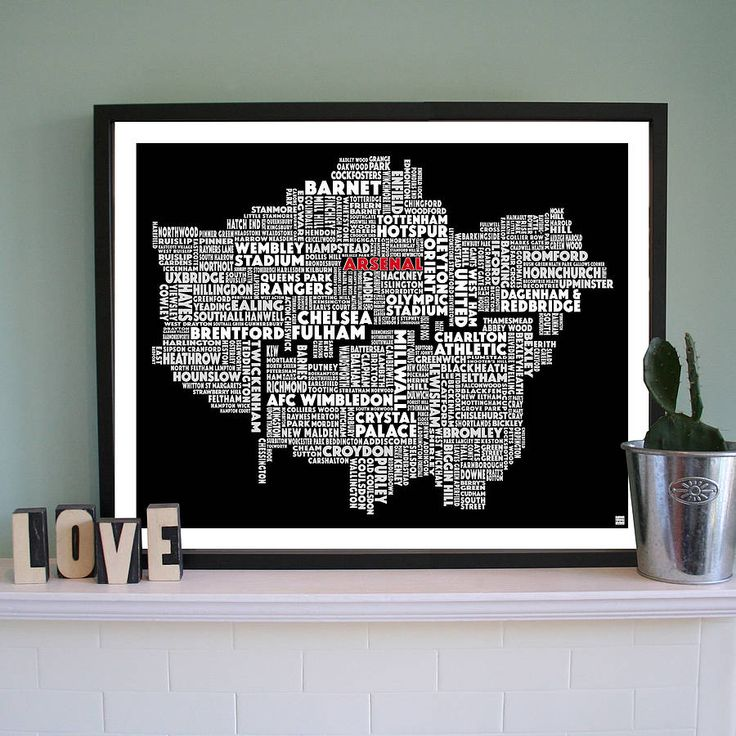London Football Print from notonthehighstreet.com