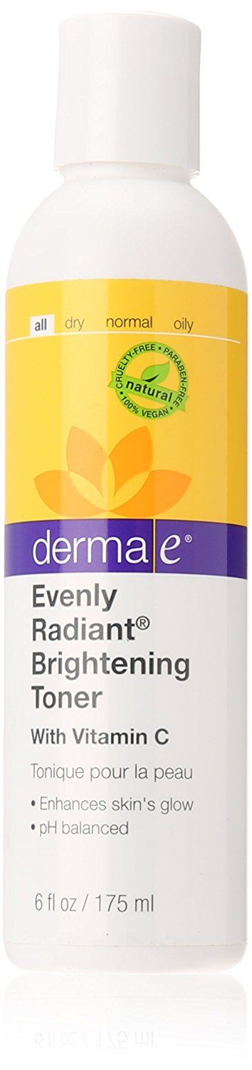 derma e Evenly Radiant Brightening Toner with Vitamin C Toner to Restore pH Balance, 6 OZ >>> Read more reviews of the product by visiting the link on the image.
