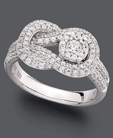 Diamonds!  This is so pretty and different. A beautiful right hand ring…. Love it!!!!