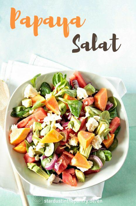 Fruchtig herzhafter Papaya Salat! Lecker, gesund und schnell gemacht!
