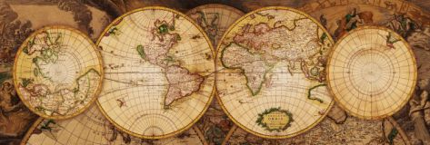 Map of the World: Nova Totius Terrarum Orbis Art Print at AllPosters.com