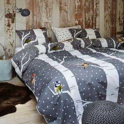 """Super schöne Flanell #Bettwäsche von Vanezza """"Birdie grey"""" #grau für große und kleine #Mädchen. #Kinderzimmer #Teenager #room #bedroom #schlafen #sleep"""