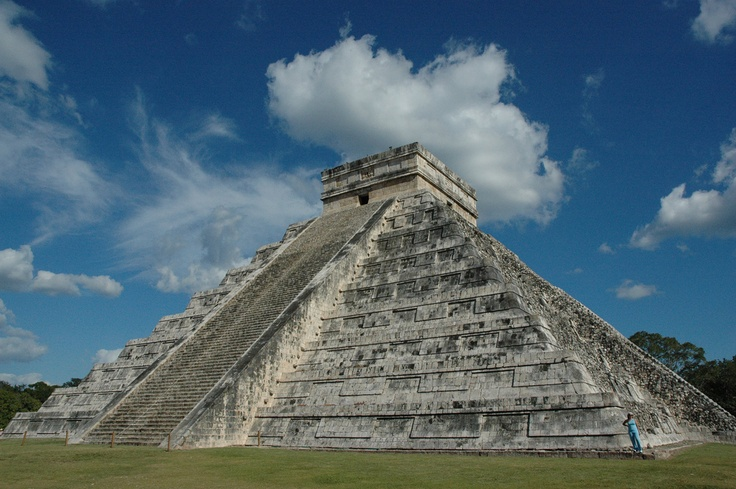 Temple at Chichen Itza, I just visited this site a week ago , so overwhelming