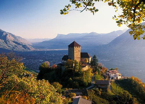 Merano, Castel Tirolo. Feels like being on top of the world and a surreal location.