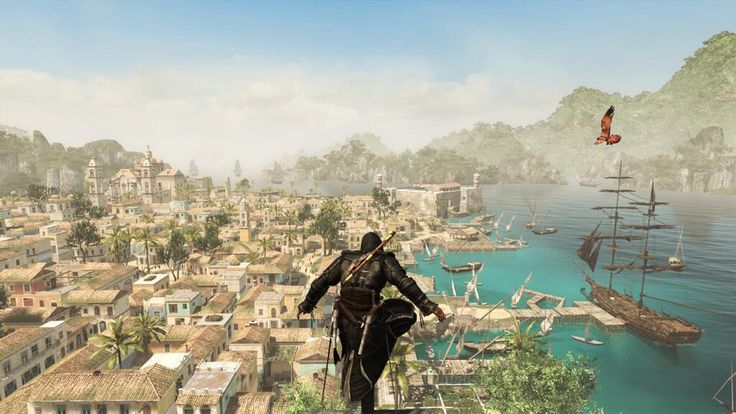 AC IV - The Jackdaw at port in Havana