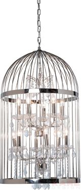 HL Cage Chandelier Chrome Ø 56cm