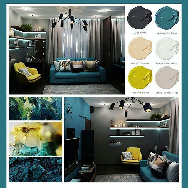Подборочка цветa✨🤗#collage#interiordesignideas#inspiration#коллаж#дизайнинтерьера#гостиная#цвет#оникс#шторм#желтыйгибискус#dariavinogradova#рисую#3dmaxvray