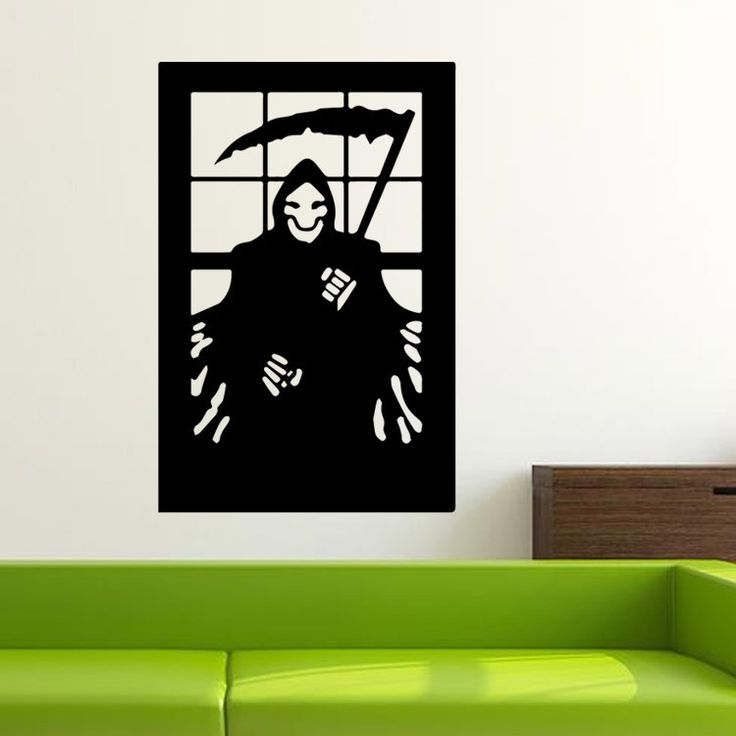 Halloween Grim Reaper Death Skeleton Vinyl Wall Sticker Decal Halloween Wall Kid Living Room Bedroom Decorative Stickers
