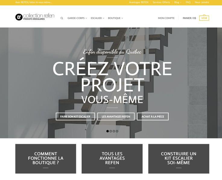 Collection Refen vous propose : Lancement du site web de la Collection Refen  ///http://refen.ca/garde-corps-achat-en-ligne/ #NouveautésProduits