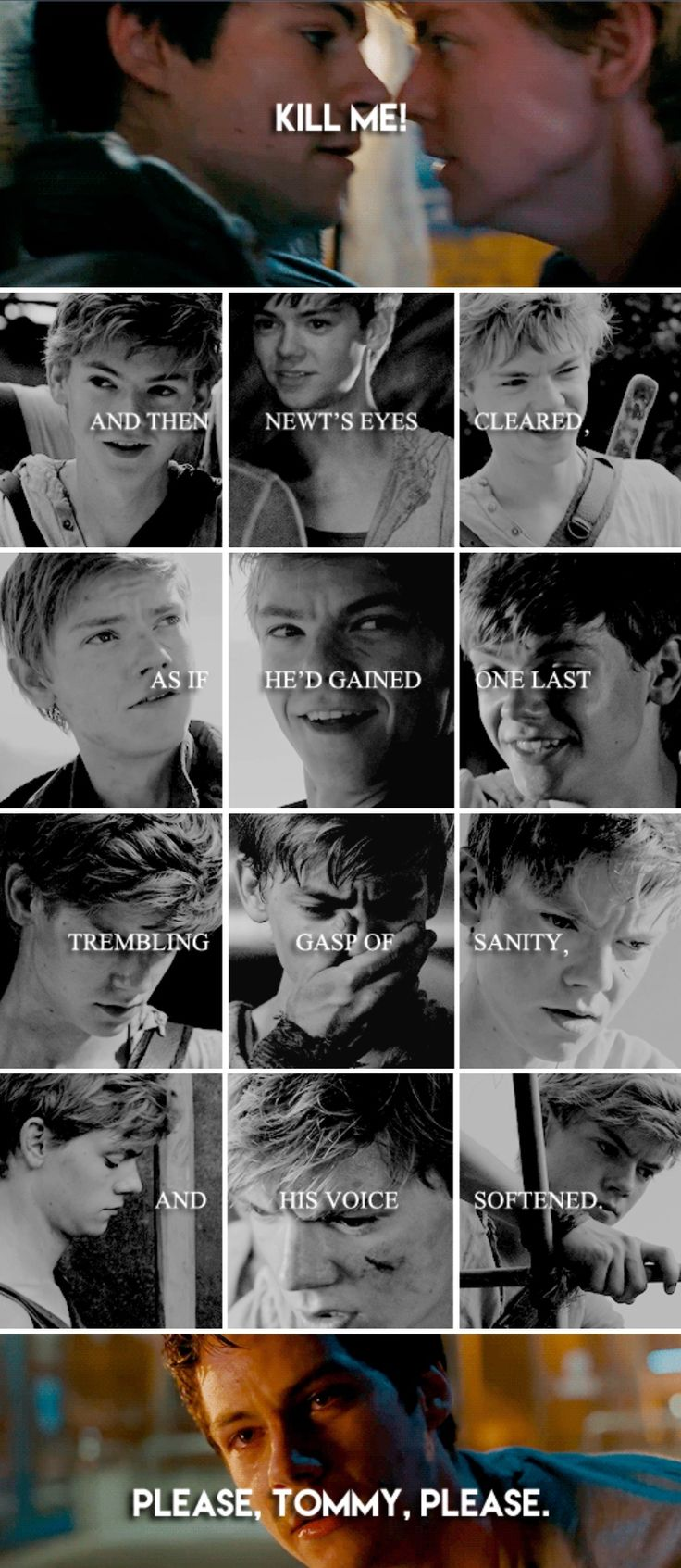 The Death Cure - With his heart falling into a black abyss, Thomas p u l l e d the trigger.