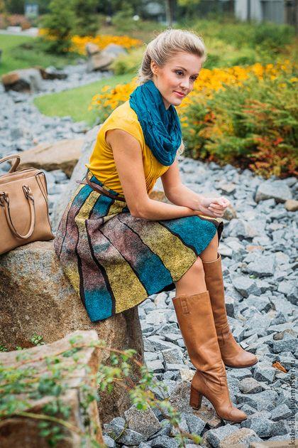 Юбки ручной работы. Войлочная юбка Карусели. Катерина Коршун. Ярмарка Мастеров. Осенняя, шерсть мериносовая