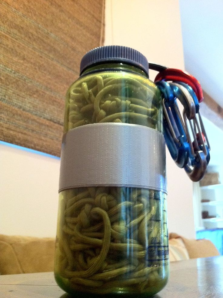 Multiuse paracord hammock in a nalgene bags survival for How to make a paracord bag