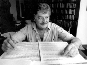 "Broadcaster Stephen Adams reflects on Peter Sculthorpe, the ""grandfather figure"" for Australian classical music. Includes a gallery of historical photos. (ABC Classic FM) This photo by Raymond de Berquelle"