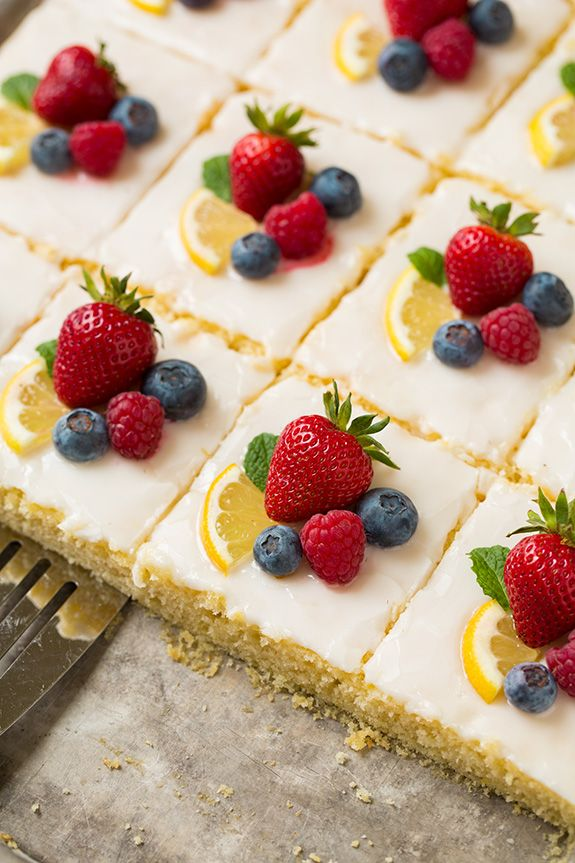 Beautiful Lemon Sheet Cake