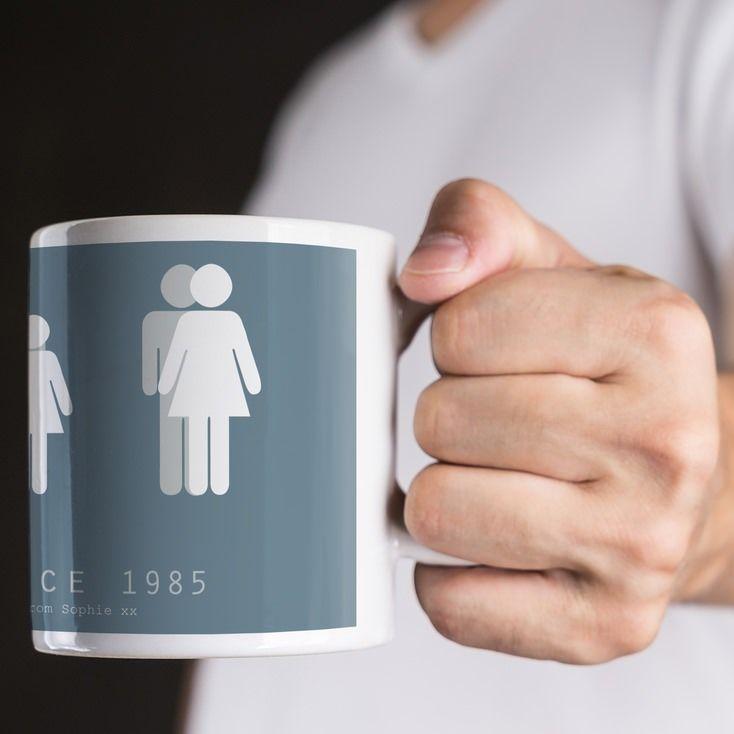 Personalised Dad By My Side Mug