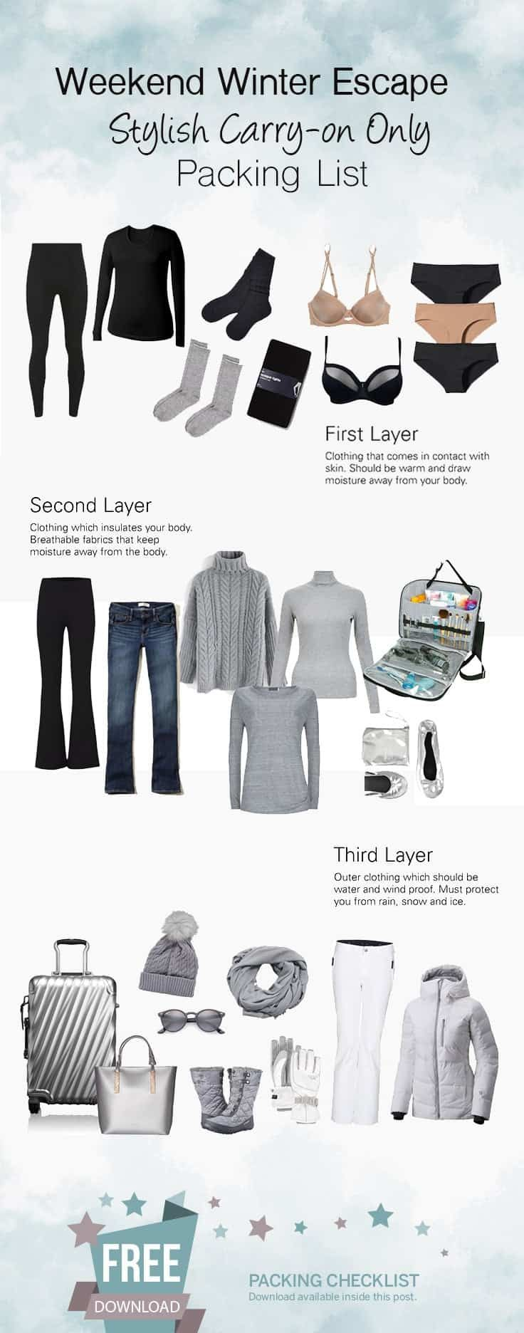 Precisa fazer as malas para uma escapadela curta de inverno? Confira nossa mala de inverno elegante …   – Winter Ideas for Tahoe