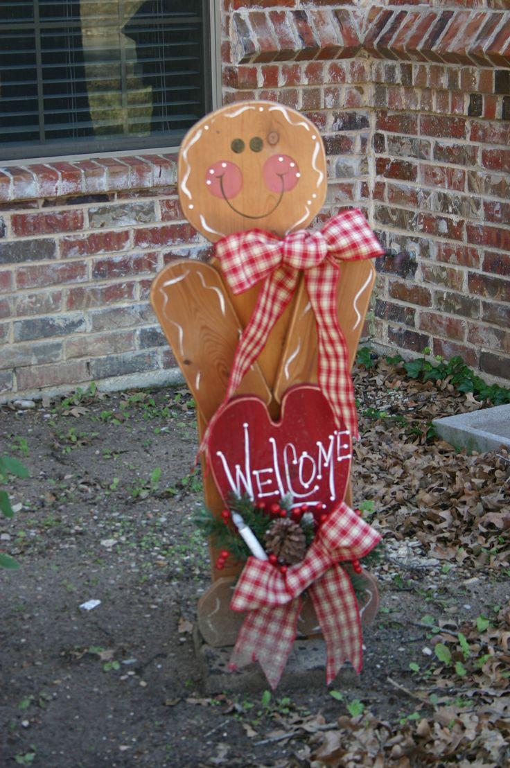 Gingerbread man yard sign christmas pinterest gingerbread man decorations chang 39 e 3 and - Decorations for gingerbread man ...