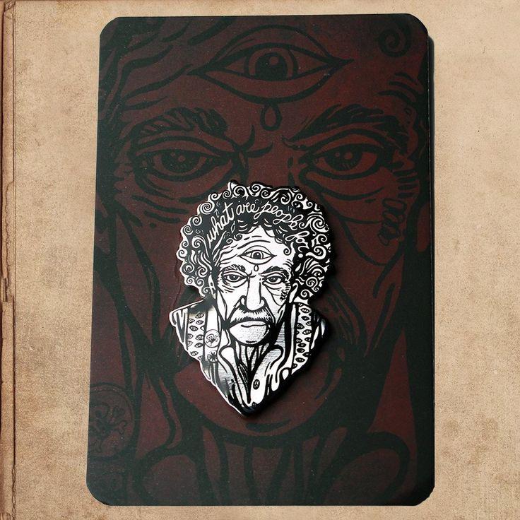 Kurt Vonnegut Portrait Enamel Pin