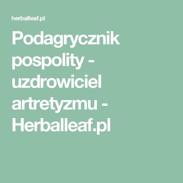 Podagrycznik pospolity - uzdrowiciel artretyzmu - Herballeaf.pl