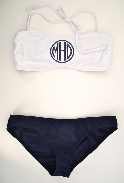 Enter to win your own monogrammed bikini from #rahrahdesigns on www.Make-Statements.com