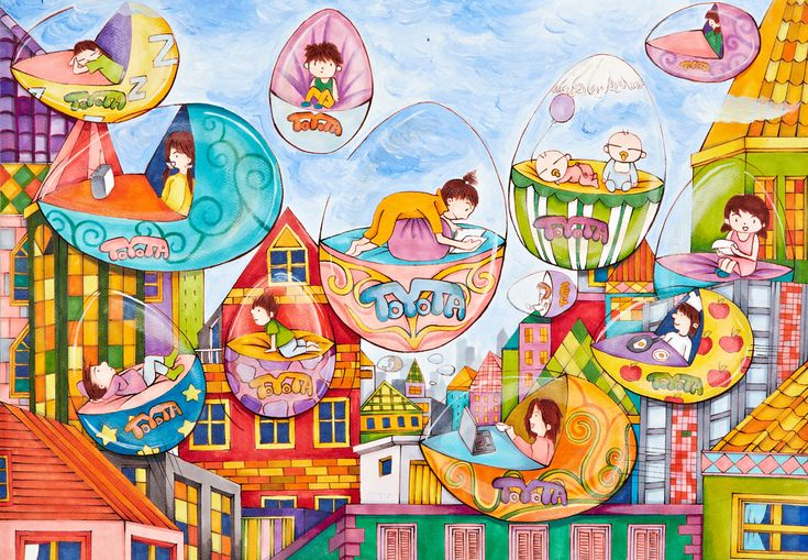 'Flying Car' by Chan Ching, Aged 15, Hong Kong: 2nd Contest, Silver #KidsArt #ToyotaDreamCar