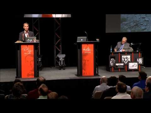 Creation vs evolution debate.  I can't believe anyone can support this moron Ken Ham and his made up nonsense...