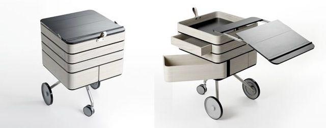 Mini Rolling Desk: Portable Modular Workstation | WIRED