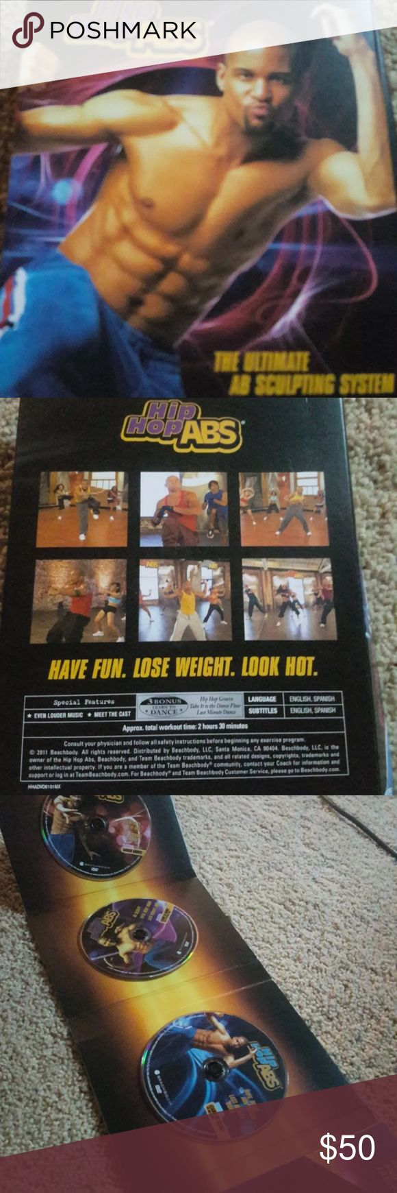 Beachbody workout DVD Complete Hip Hop Abs DVD set. Workout with Shaun T, get a hard body and learn some moves to show off at the club Open to offers and will bundle Other