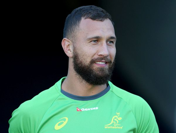 Quade Cooper Photos Photos - Quade Cooper of the Wallabies watches on during an…