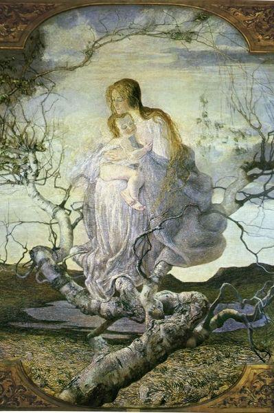 L'albero e l'abbraccio generoso della madre