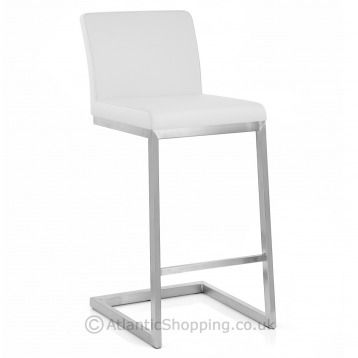 Ace brushed bar stool - in white or cream