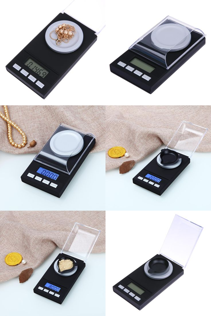 [Visit to Buy] 50g/0.001g Jewelry LCD Digital Scale Lab Weight Milligram Scale Medicinal Herbs Use Portable Mini Electronic Scales Precisely #Advertisement