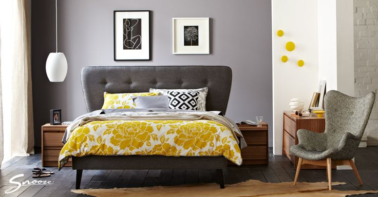 Adding your personal #style to a #bed can completely change the look. Just compare Barry's room to the one shown here. Same bed, totally different look.