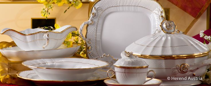 Soup Tureen and Serving Plate - Hadik pattern Herend Fine china