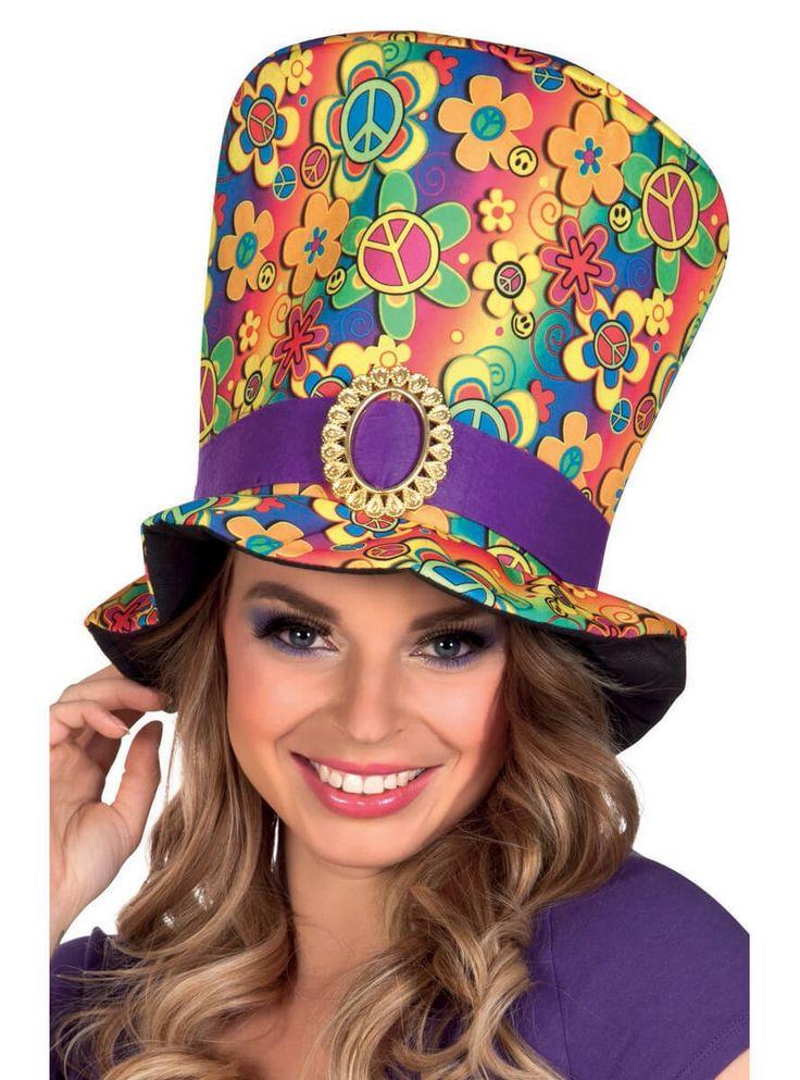 Sombrero años 60 hippie para hombre y para mujer