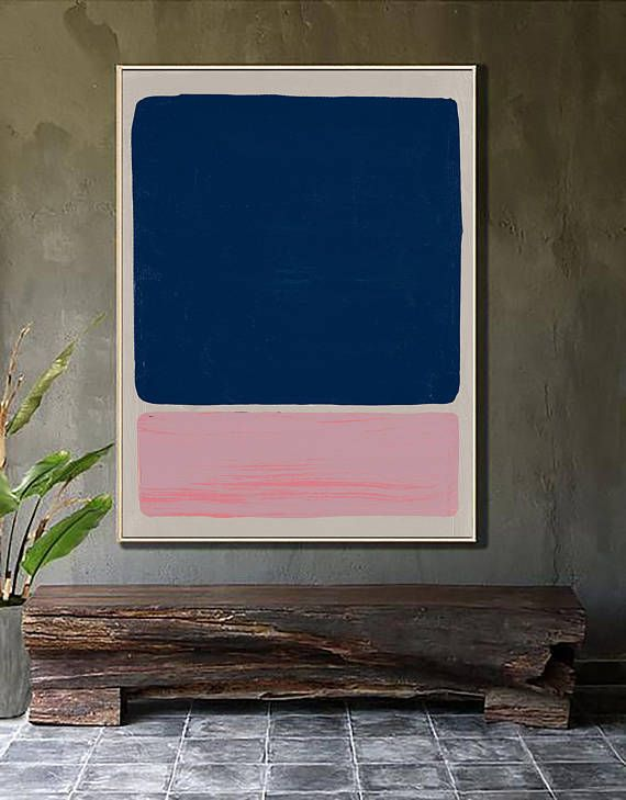 Abstract Navy And Pink Painting Blue And Pink Print Navy Painting Navy Print Millennial Pink Print Pink Wall Art Pink Art Etsy Prints Pink Painting