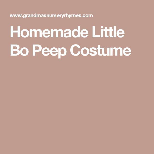 Homemade Little Bo Peep Costume