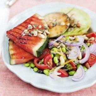 GrIllad melon med oliver